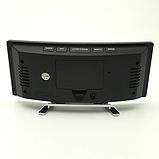 Електронні годинники з дзеркальним дисплеєм, будильник, температура, від батарейок і USB, фото 7
