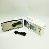 Електронні годинники з дзеркальним дисплеєм, будильник, температура, від батарейок і USB, фото 9