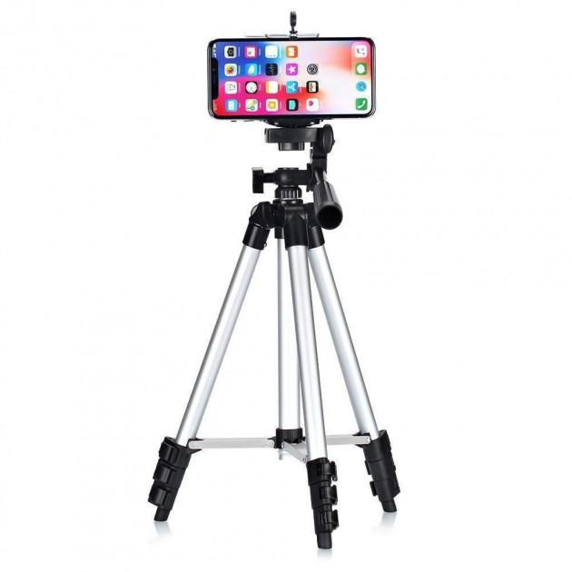 Штатив для камеры и телефона трипод с чехлом, тренога для смартфона, высота 103см