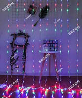Водопад 240 LED 2.2м * 1.5м, мульти