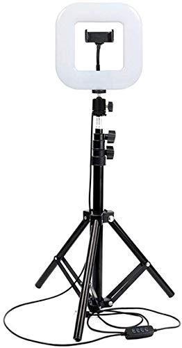 Квадратная блогерская светодиодная лампа 20 см на штативе 2 метра