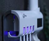 Автоматический диспенсер для зубной пасты и щеток  Toothbrush sterilizer W-020, фото 8