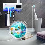 Автоматический диспенсер для зубной пасты и щеток  Toothbrush sterilizer W-020, фото 9