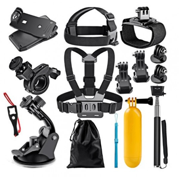 Набір додаткових кріплень для камери, 12 предметів