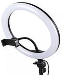 Світлодіодна кільцева лампа 26 см на підставці тренозі, фото 4
