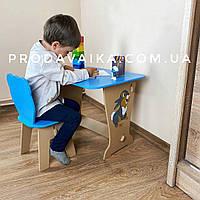 Детский стол! Супер подарок!Столик парта ,рисунок зайчик и стульчик детский Медвежонок.Для рисования,учебы,игр