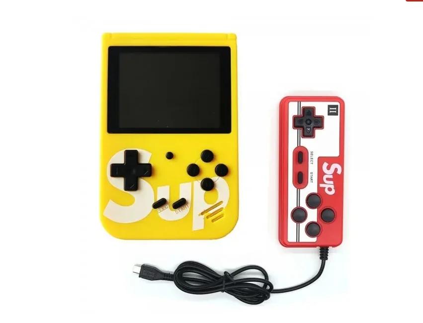 Игровая приставка с джойстиком Retro FC Game Box Sup dendy 400в1 Желтый