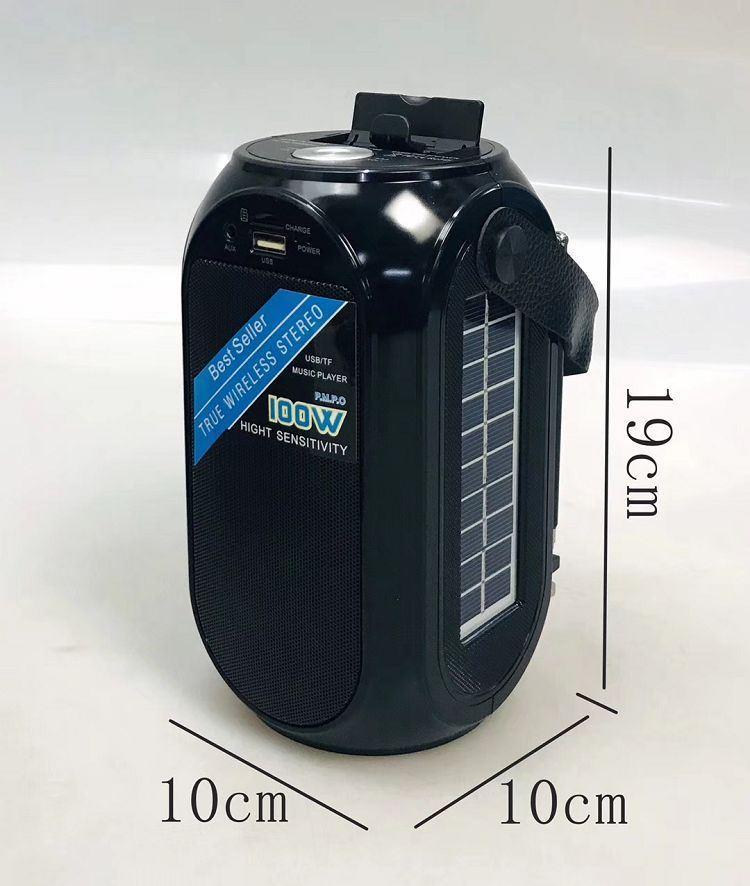 Радиоприемник RX 27, зарядка от солнца, читает флешку, AUX, Bluetooth