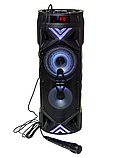Безпроводная колонка караоке ZQS-6201, микрофон, цветомузыка, пульт, радио, фото 3