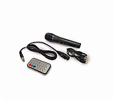 Безпроводная колонка караоке ZQS-6201, микрофон, цветомузыка, пульт, радио, фото 6