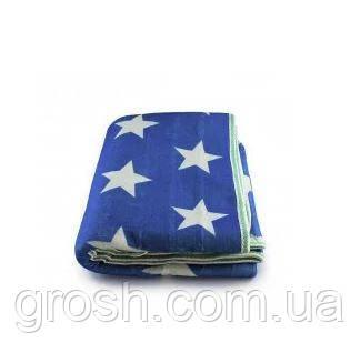 Простирадло електричне з сумкою Electric Blanket 150х120см (Синій, Білий, Зірки)