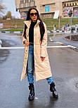 Пальто из экокожи зимнее женское стеганное с воротником стойкой (р. 42-46) 2202171, фото 3