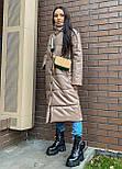 Пальто из экокожи зимнее женское стеганное с воротником стойкой (р. 42-46) 2202171, фото 10