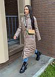 Пальто из экокожи зимнее женское стеганное с воротником стойкой (р. 42-46) 2202171, фото 9