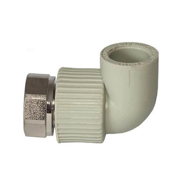 PPR Tebo колено с накидной гайкой (метал) D 25*1