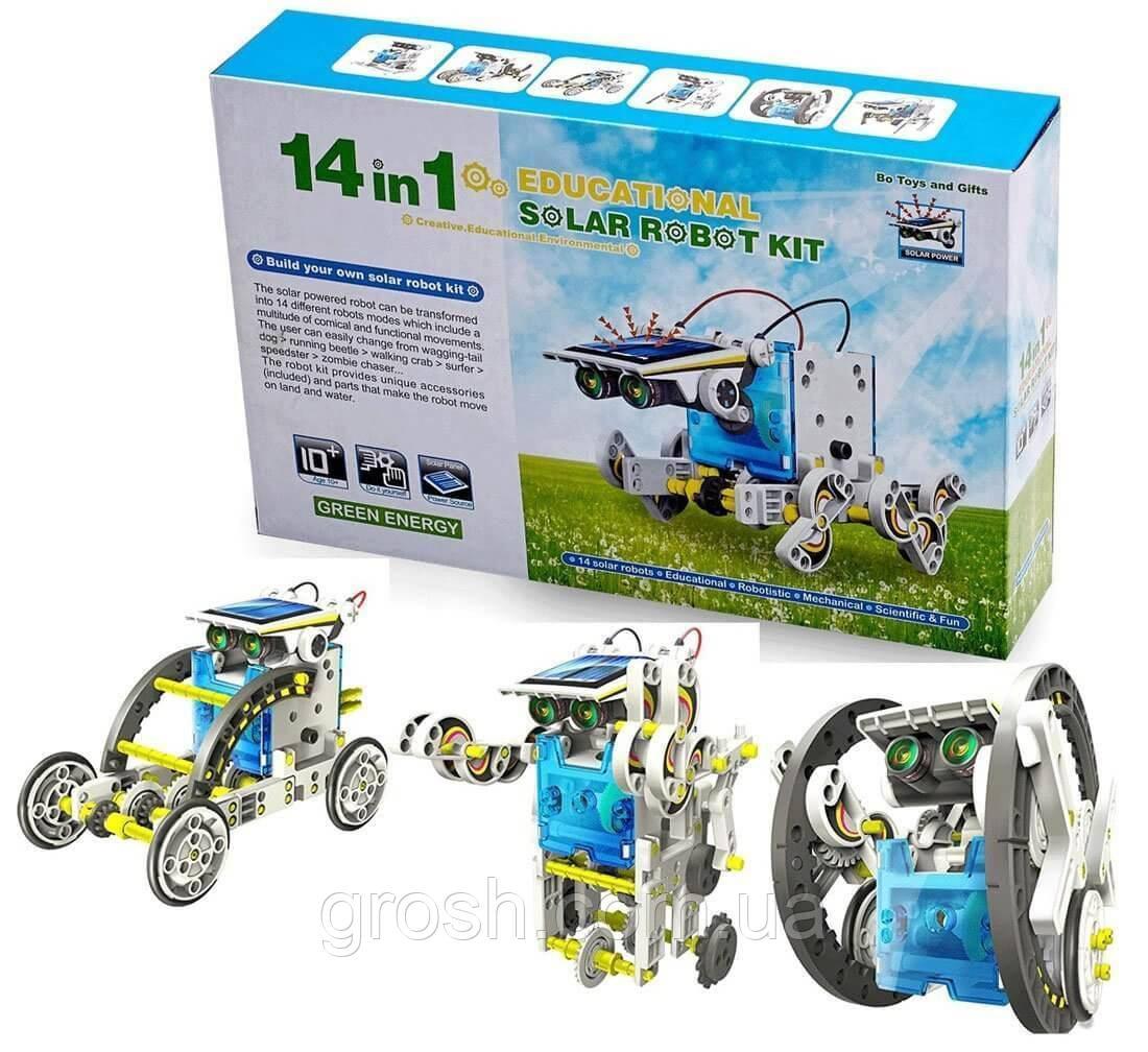 Конструктор робот на сонячній батареї - 14 в 1 Educational Solar Robot