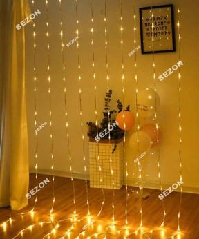 Водопад 360 LED 4м * 0.8м, теплый белый