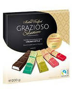 Шоколад Maitre Truffout Grazioso Австрия 200г (4 вкуса в одной упаковке ... клубника, малина,лимон, капуч