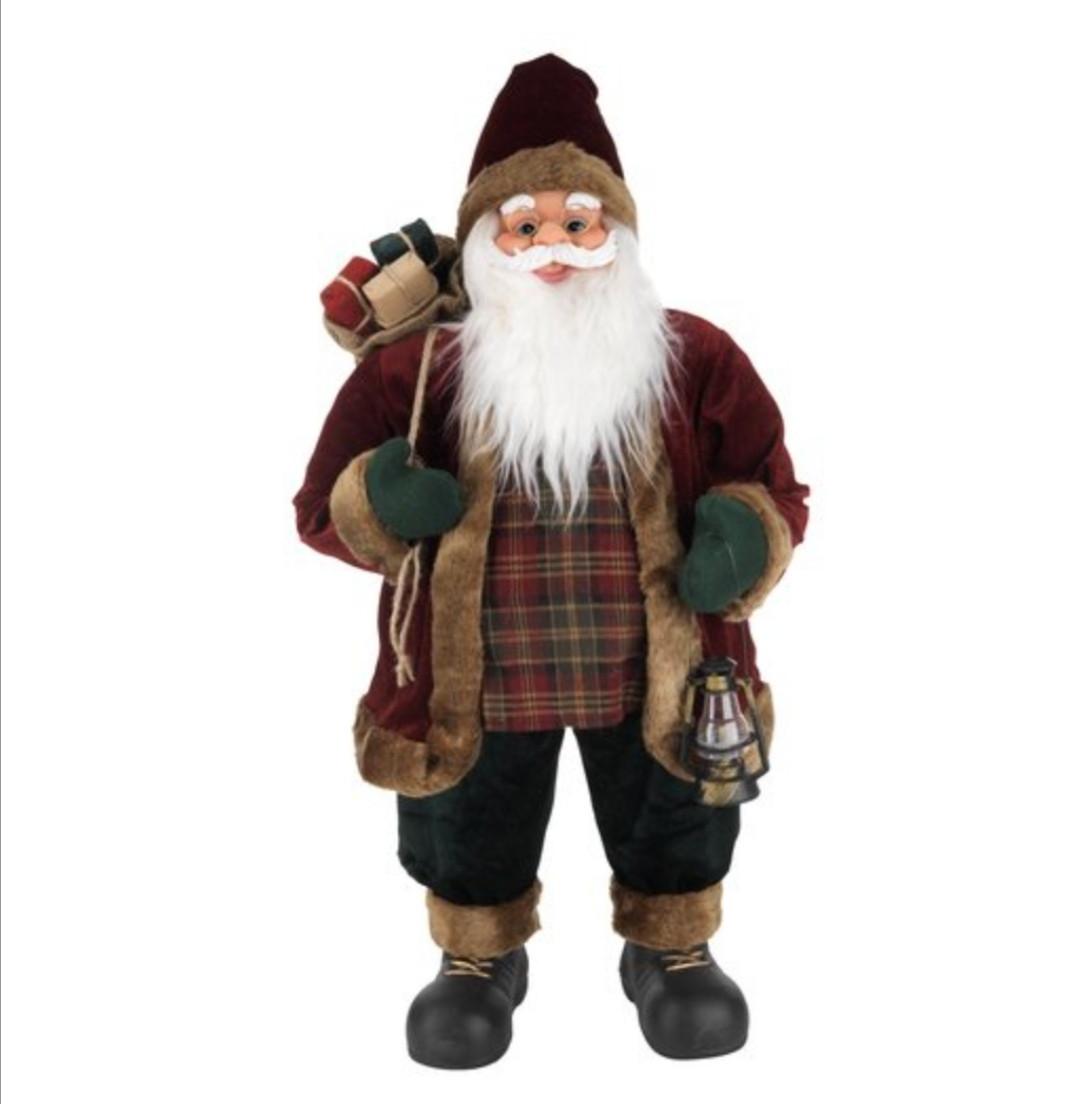 Новогодняя игрушка Дед мороз, санта Клаус 81 см