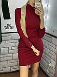 """Короткое женское платье-гольф """"Eva"""", фото 2"""