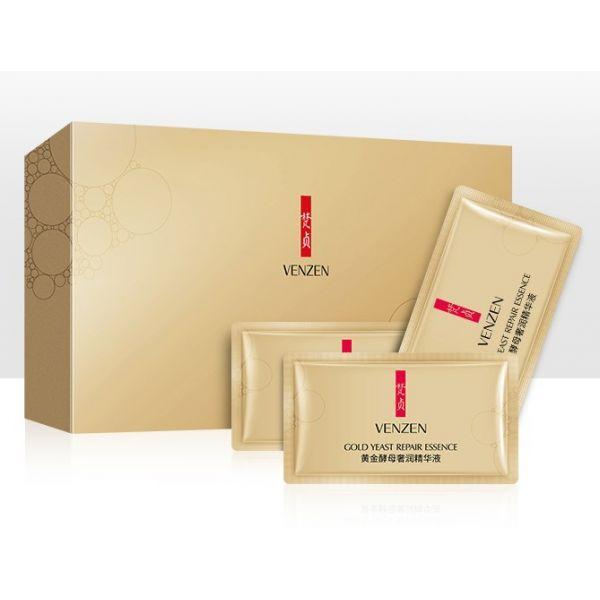 Набор увлажняющих сывороток с золотом 24K VENZEN Gold Yeast Repair Essence (2мл*30шт)