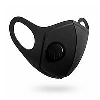 Многоразовая угольная маска с клапаном Jellys Черный ЧМК, КОД: 1636377