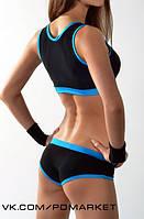 """Комплект топ + шорты модель """"Наташа"""" для занятий  фитнесом,exotic pole dance, pole dance."""