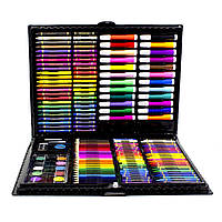 Большой набор для детского творчества и рисования Super Mega Art Set Black 168 предметов 3962-114, КОД:
