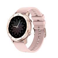 Умные часы No.1 DT89 Silicon с тонометром и пульсоксиметром Rose Gold (swno1dt89silgol)