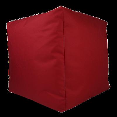 Пуф куб, 40*40*40 см, (оксфорд) (красный)