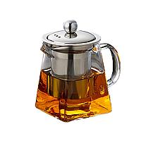 Стеклянный чайник заварник Saval 0.590 л Прозрачный 605, КОД: 1155143