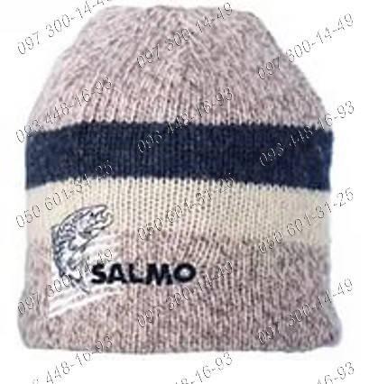 Заботливый подарок для зимы Вязаная теплая шапка Salmo Wool Подкладка флис, фото 2