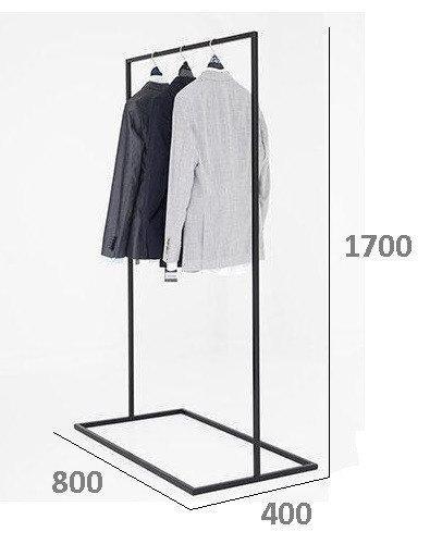 Вешалка для одежды ЛОФТ из металла 800*400*1700