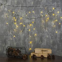 """Гирлянда светодиодная комнатная """"Бахрома"""" LedGO, 3 х 0,5 м, 110 LED, теплый белый"""