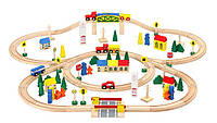 Дерев яна залізниця Kruzzel 100 елементів