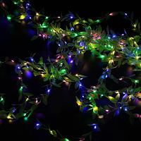 Xmas гирлянд 200 Led листья плакучей ивы (Copper) на медной проволоке Мультицветная 3M*1M