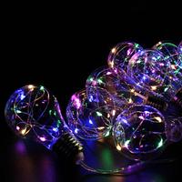 Xmas гирлянд в виде Лампочки 10 Led Мультицветная