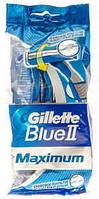 """Станок для гоління чол """"Blue II"""" однор. 6шт+2шт maximum  з плав. гол. /-692/20"""