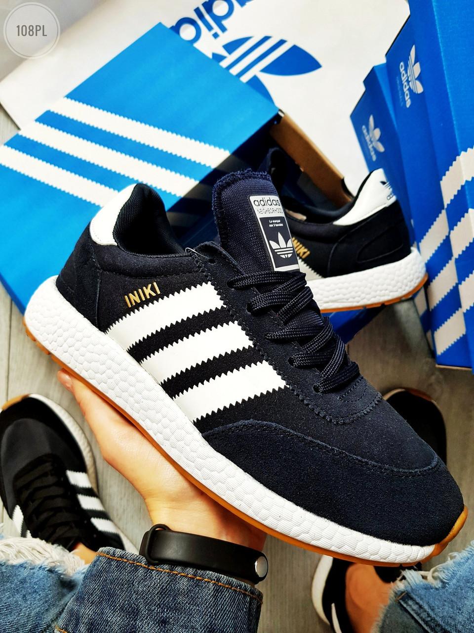 Чоловічі кросівки Adidas iniki / blue (р. 43 і 44) Сині