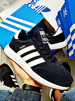 Мужские кроссовки Adidas iniki / blue (р. 43 и 44) Синие