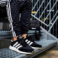 Мужские кроссовки Adidas iniki (р. 40 42 43 44 45) Черные