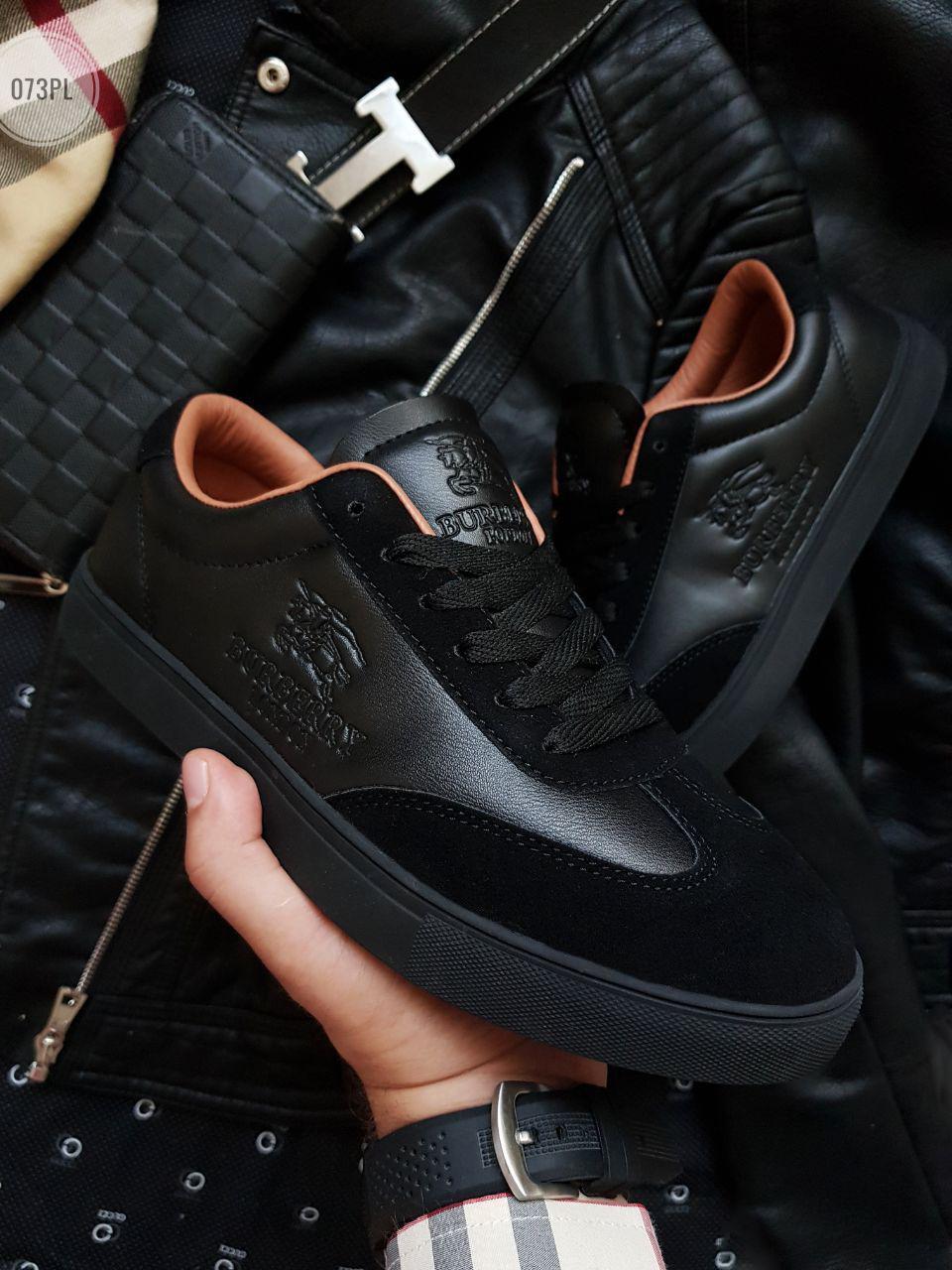 Стильні чоловічі кеди Burberry кросівки чорні (р. 42.5, 43, 44)