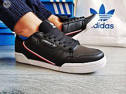 Мужские кроссовки Adidas CONTINENTAL 80 Black  (р. 41 43 44 45)