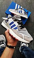 Чоловічі кросівки Adidas Nite Jogger LUX Рефлектив (р. 43) Сірі, фото 1