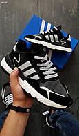 Мужские кроссовки Adidas Nite Jogger LUX Рефлектив (р. 41,43,44) Черные