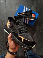 Мужские кроссовки Adidas Nite Jogger (р. 41,42,43) Черные, фото 1