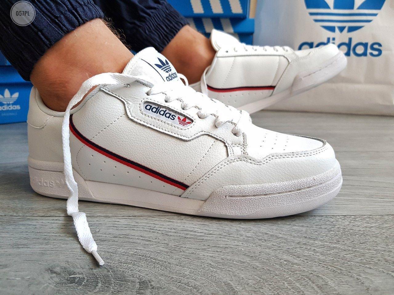 Мужские кроссовки Adidas CONTINENTAL 80 (р. 41,42,43,44,45,46) Белые