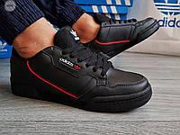 Чоловічі кросівки Adidas CONTINENTAL 80 (р. 41,42,44) Чорні, фото 1