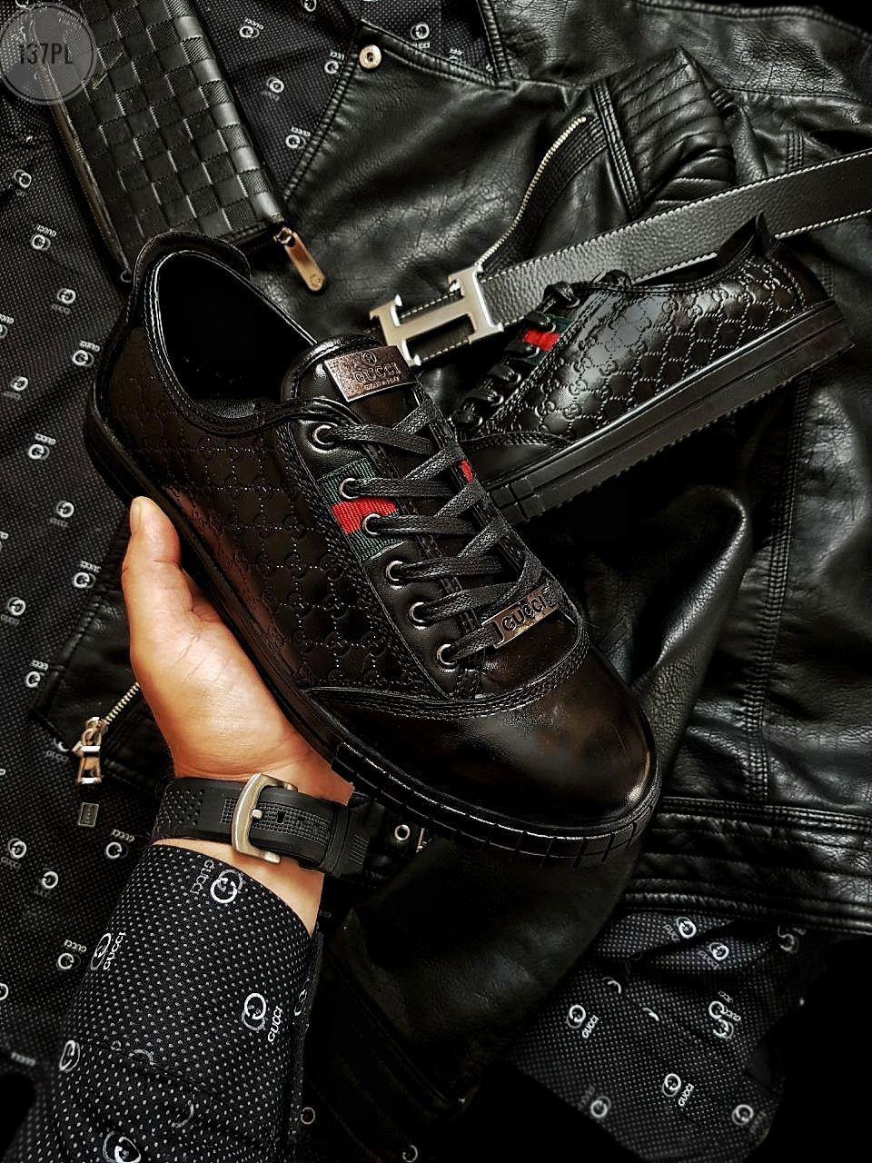 Мужская фирменная обувь Gucci (р. 41) Черные