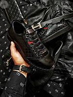 Мужская фирменная обувь Gucci (р. 41) Черные, фото 1